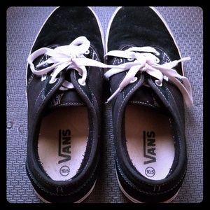 28452db39c1 ... Authentic Era Vans Black and White Shoes ...